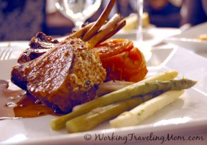 Lamb chop at Aerie Restaurant and Lounge