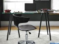 Black Sleek and Swiveling Wrap Office Chair