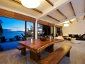 Coffee table with sea view at Contemporary Tropical Home Design Casas del Sol