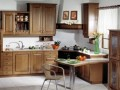 Classic Kitchen Design with Natural Oak Wooden Material Dark