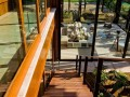 From above Natural Residence Design with Wooden and Large Glazing Window