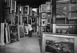 """April 5, 1946: This image of the catacombs of the Metropolitan Museum of Art accompanied a letter to the editor published Dec. 7, 1970, that pointed out, citing a fact sheet issued by the museum, that """"90 percent of the American paintings and sculptures, 55 percent of the objects assigned to the American wing, 55 percent of the European paintings and 70 percent of Western European art are not on view."""" The writer suggests several alternative means to display hidden art. Photo: The New York Times"""