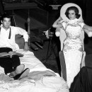 George Hamilton and Natalie Wood between scenes of <em>All the Fine Young Cannibals</em>