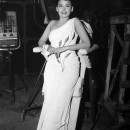 Lena Horne gets a little rest on the set of <em>I Dood It</em>