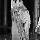Merle Oberon relaxes during filming of <em>Night in Paradise</em>