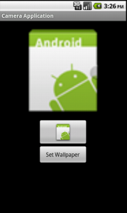 Android Camera and Wallpaper development