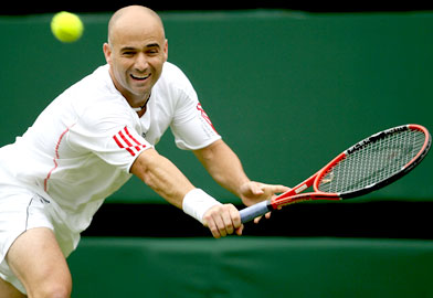 Earlier this year Andre Agassi announced that the U.S. Open                would be his tennis career's swan song. (Clive Brunskill/Getty Images)