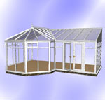 Full Height DIY P-Shaped Victorian Conservatory