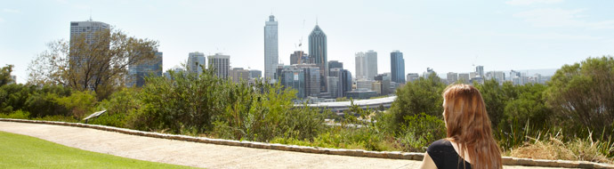 View of Perth city from Kings Park