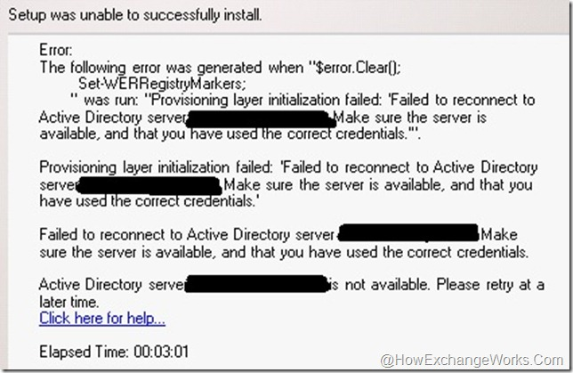 Exchange 2010 setup error with SCOM in the play