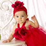 Little Sweetheart Blushing Roses Tutu Halter Dress