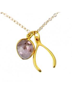 Wish Bone Charm Necklace