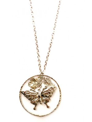 Charm Butterfly Sweater Necklace