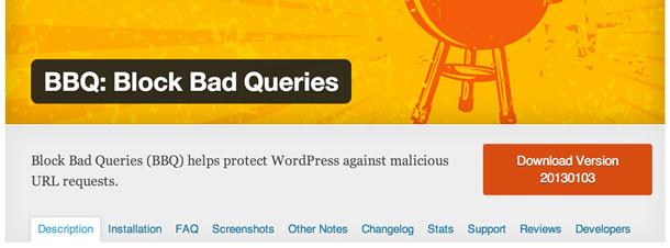 Das BBQ: Block Bad Queries WordPress Plugin