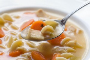 chicken noodle soup 300x199 Flu and cold fighting foods