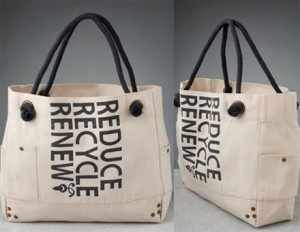 reduce reuse recycle renew chic bag 300x232 Becoming a little more eco chic