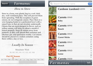 farmanac 300x214 Three apps for picking the right produce