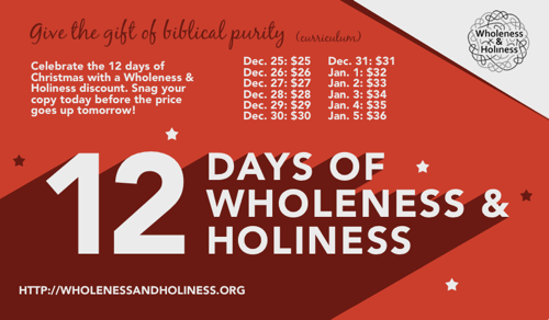 Post image for Wholeness & Holiness Biblical Purity Curriculum