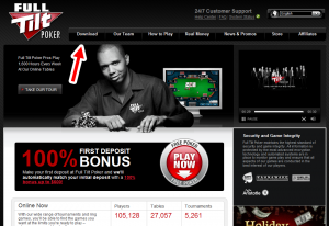 Its very secure to download full tilt poker from Fulltiltpoker. Over one million pokerplayers has already done so.
