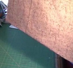 line up fabric for an straight cut