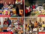 Peter Menzel visited 30 families in 24 countries to gather unique snapshots of eating habits around the globe which feature in a new book called The Hungry Planet