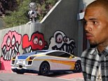 They're Looking At Him Now! Chris Brown gets fined for 'unpermitted and excessive signage' after neighbors complain about the giant monster face graffiti art he adorned his home with