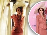 Bringing back '40s glamour! Coco Rocha dazzles in retro Zac Posen suit and towering Treacy hat at Kentucky Derby