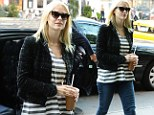Already in maternity wear! Jaime King steps out in smock top one day after announcing she is pregnant with her first child