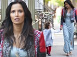 Following in her footsteps! Fresh faced Padma Lakshmi bares her enviable pins as she takes her look-a-like daughter shopping in New York City