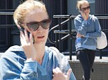 Showing off the fruits of her labour! Makeup-free Emily Blunt reveals her toned legs in spandex pants as she hits the gym
