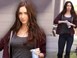So that's her secret to looking so good! Flawless Megan Fox sips on coconut water as she hits the set of the Teenage Mutant Ninja Turtles movie for the first time