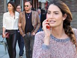 Two times the beauty: Lily Aldridge was seen in a casual outfit by day an sexy number by night as she strolled around New York City on Friday
