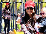 Doubly good: Bethenny Frankel headed to the park with daughter Bryn after receiving two bits of good news in New York, on Friday