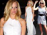 She's a knock out! Pamela Anderson goes for the classy look at boxing match after soaking up the sun at Vegas pool party