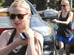 Make-up free Diane Kruger shows why she was made the new face of Chanel as she keeps casual for lunch outing