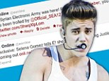 'Justin Bieber is gay': E! Online's Twitter account hacked by the Syrian Electronic Army... sending out fake messages about Justin Bieber and Angelina Jolie