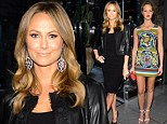 Luxurious ladies! Stacy Keibler vamps it up in black dress while Erin Heatherton is angelic in charteuse frock to attend Dolce & Gabbana bash