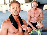 9021-Whoa! Shirtless Ian Ziering shows off rock-hard abs as he hits the gym to prepare for Chippendales debut