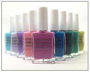 Left to Right: Pool Boy, Ghostly, Shellac'd, Femme, Pansy, Rx, Echo, Chlorophyll, Wasabi