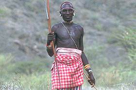 A Masai man. The more I look at this guy, the more I think he looks like our 36,000 year old Caucasian guy reconstructed at the start of the post. Or am I hallucinating?