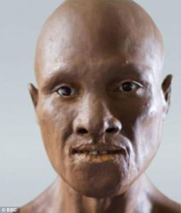 An early European, possibly of the M173 line. He may somewhat resemble a Khoisan or Bushman.