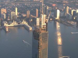 Watch: Freedom Tower spire installed
