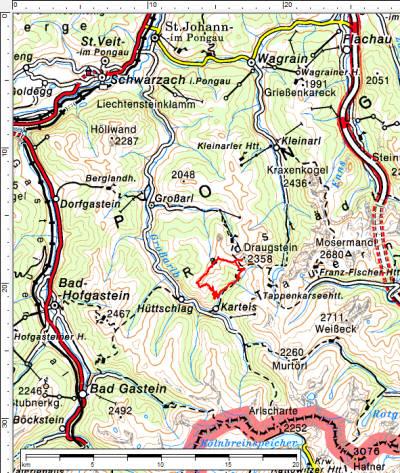 Anfahrt über St. Johann im Pongau nach Großarl und Hüttschlag