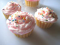 Melt & Pour Soap Frosting for Cupcakes