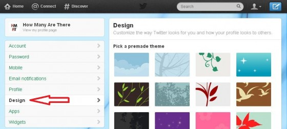how to change twitter background