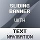 Sliding Banner Rotator with Text Navigation - ActiveDen Item for Sale