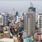 Панорамный вид на Бангкок. Стройка новых высоток