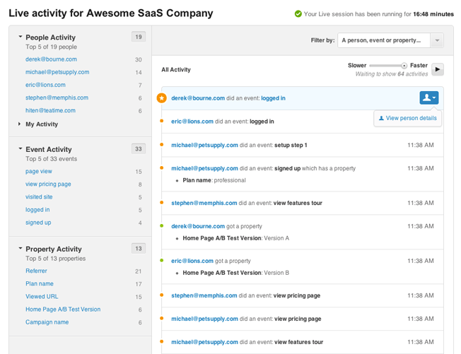 New KISSmetrics Live