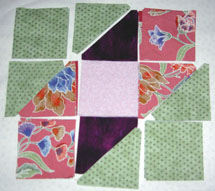lay patches on flannel board