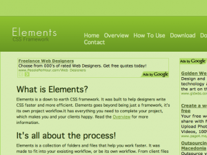 Elements - A Down to Earth CSS Framework